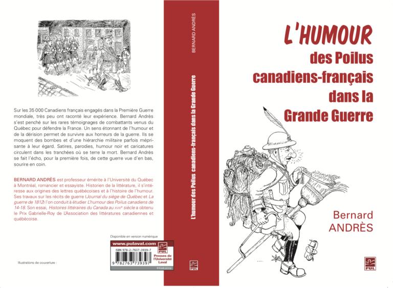 Couverture : l'humour des poilus canadiens-français dans la Grande Guerre, de Bernard Andrès